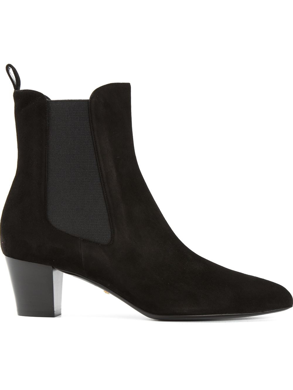 Gucci Chunky Heel Chelsea Boots in Black | Lyst