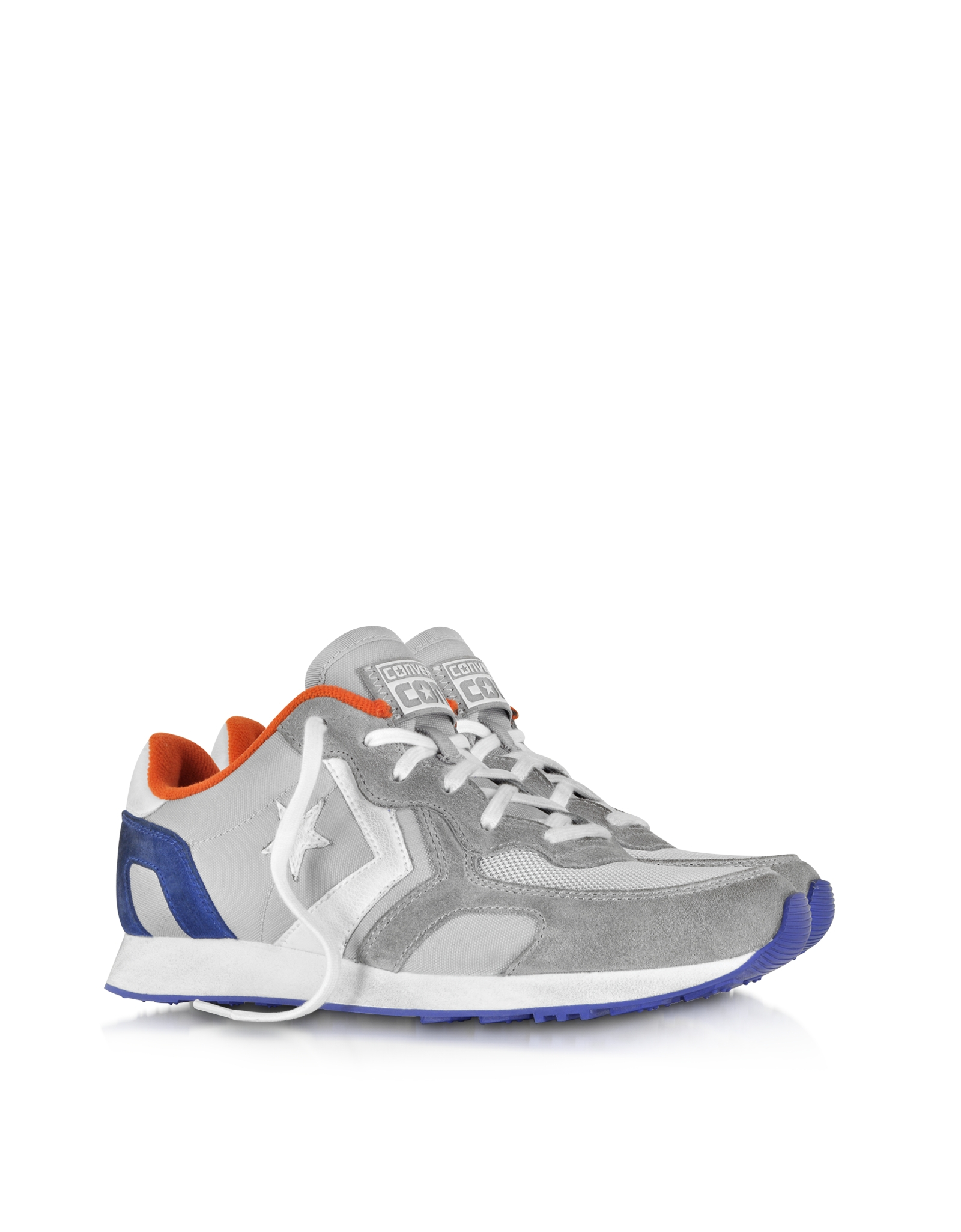 Lyst - Converse Auckland Racer Ox Gray Orange Blue Nylon And Suede ... bf449cb14