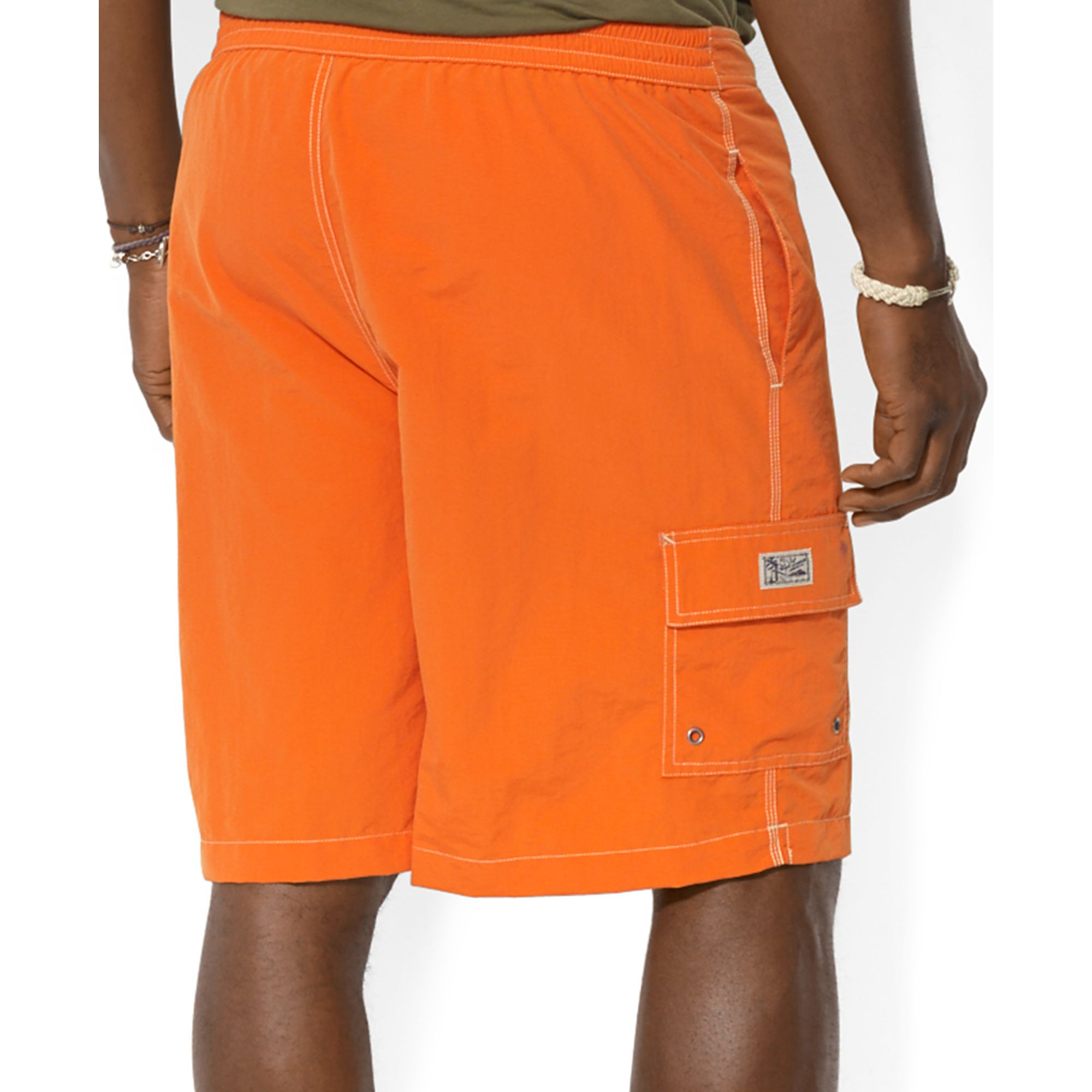 Ralph lauren polo big and tall kailua swim trunks in for Mens swim shirt big and tall