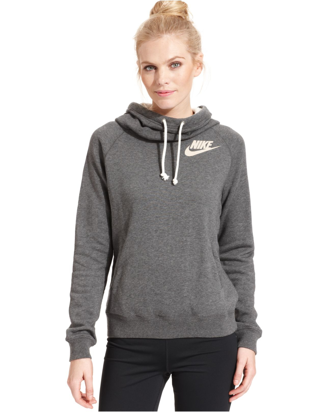b630990c0e4b Lyst - Nike Rally Funnel-Neck Sweatshirt Hoodie in Gray