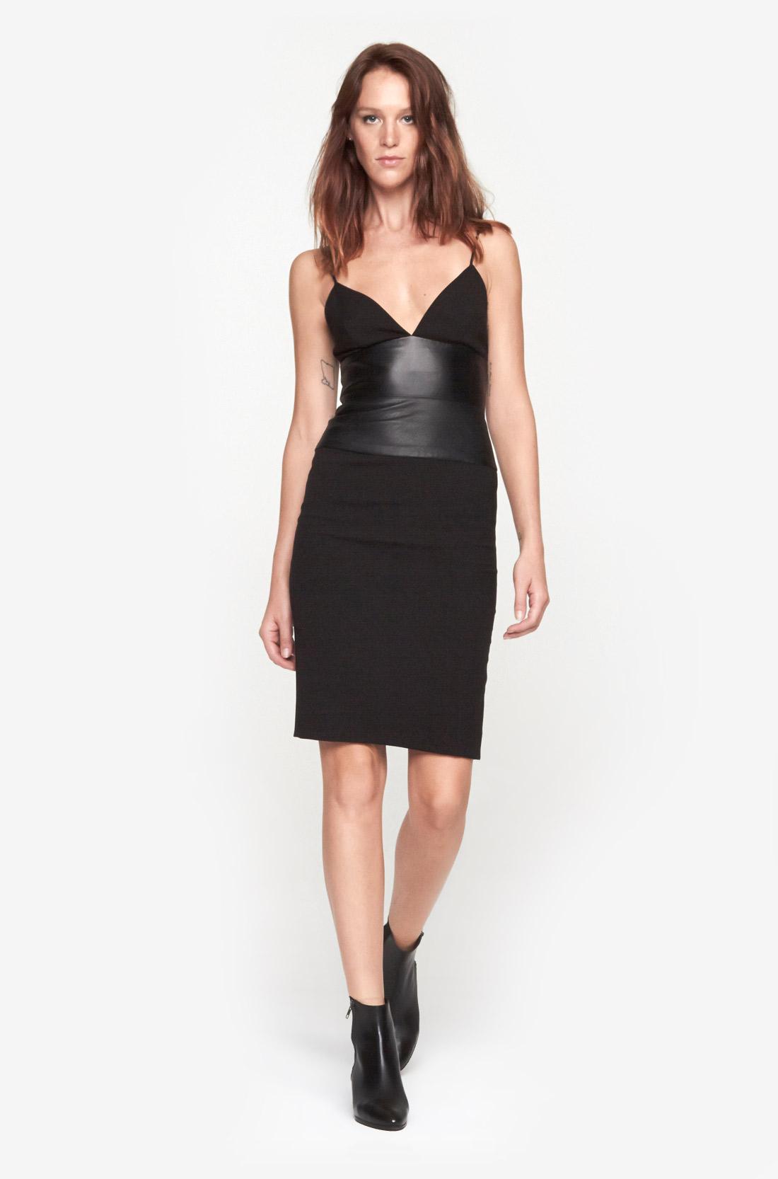 L Agence Spaghetti Strap Dress In Black Lyst