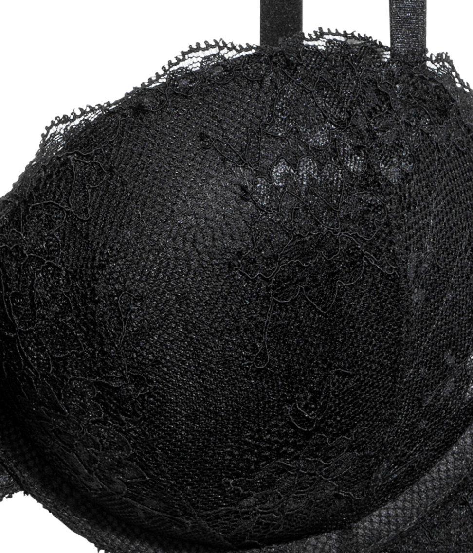 70dd6af57e Lyst - H M Lace Super Push-up Bra in Black
