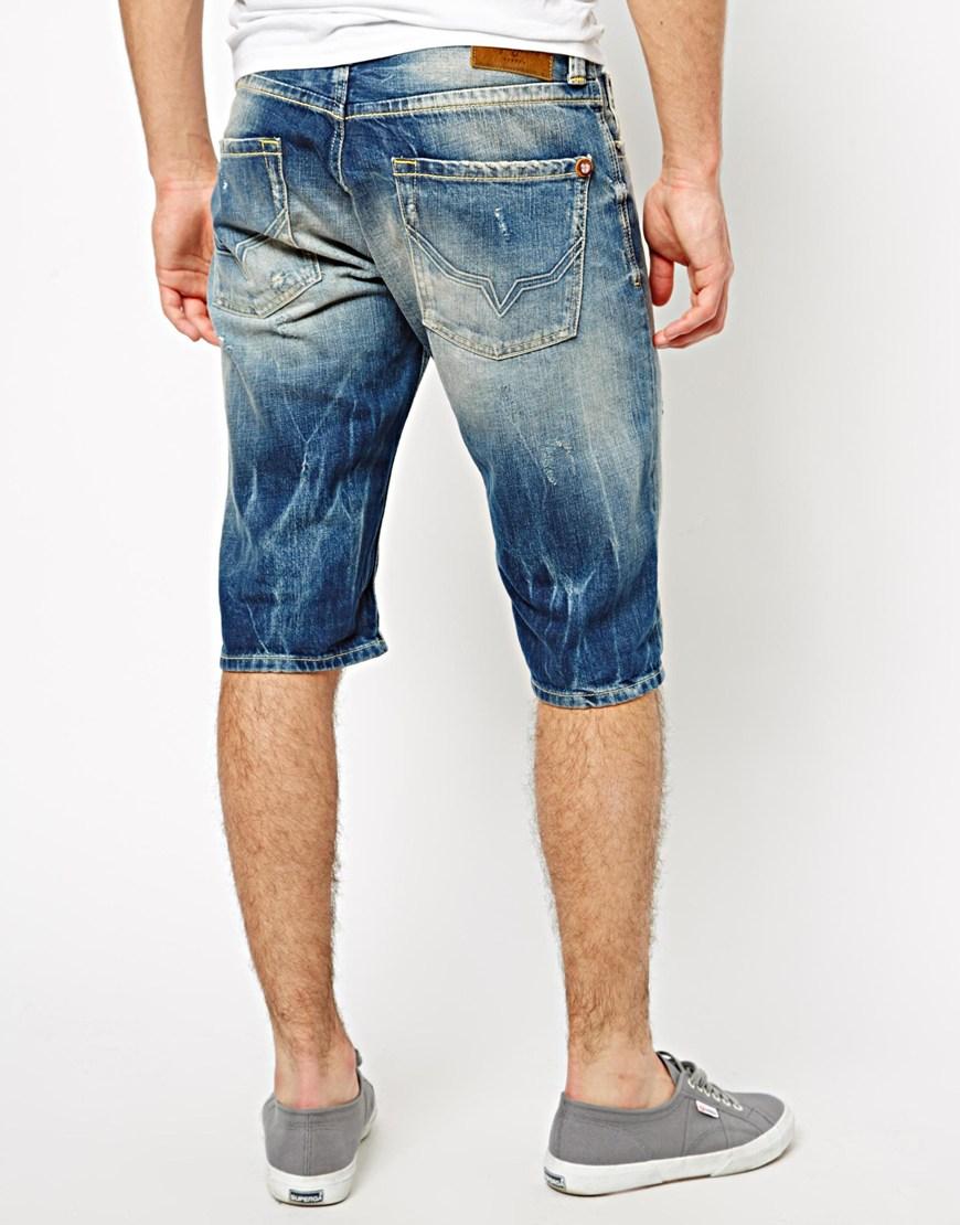 lyst pepe jeans pepe denim shorts cash straight fit dark. Black Bedroom Furniture Sets. Home Design Ideas