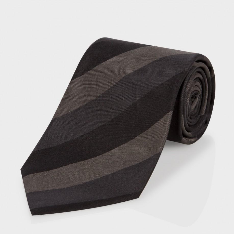 black grey diagonal strip sweater