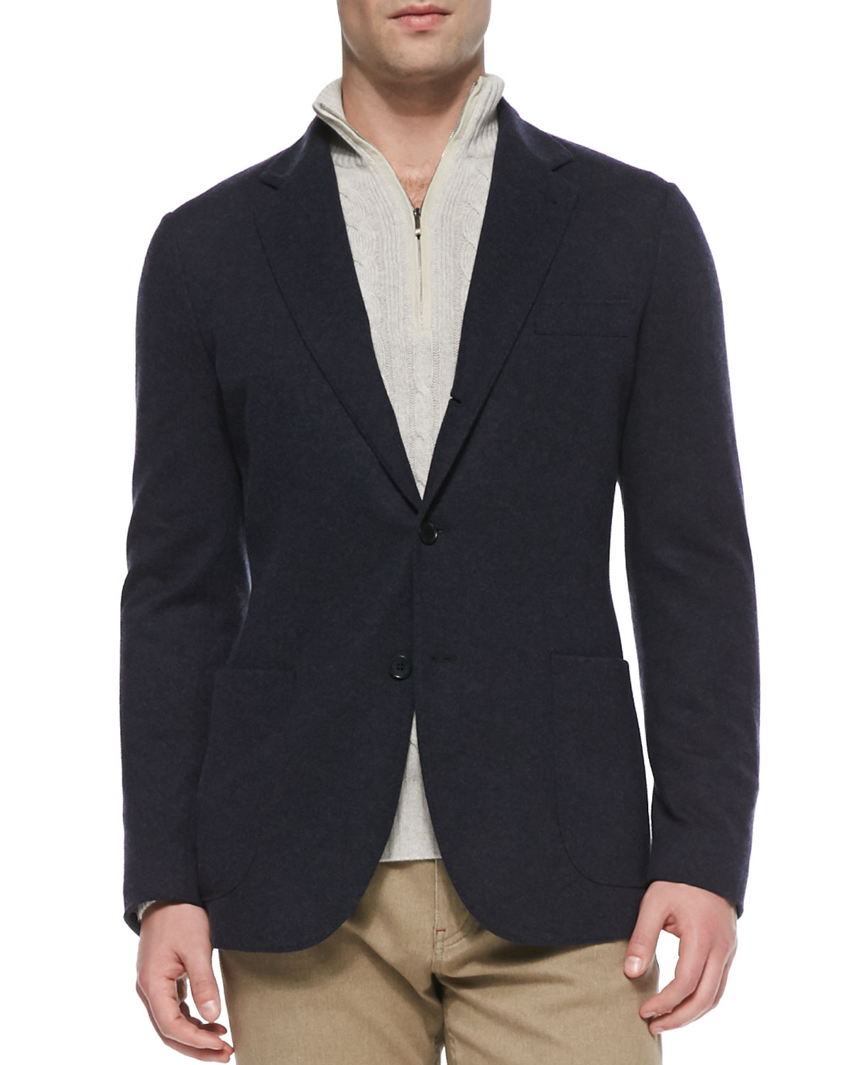 903f0496f Lyst - Loro Piana Baby Cashmere Sweater Jacket in Black for Men