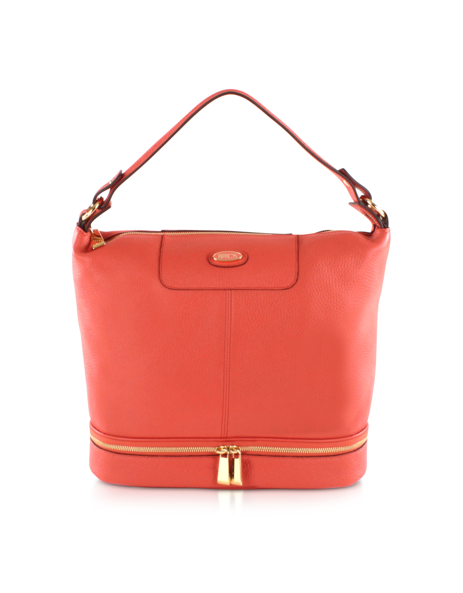 Borse Bag Verona : Bric s verona leather bucket bag in orange lyst