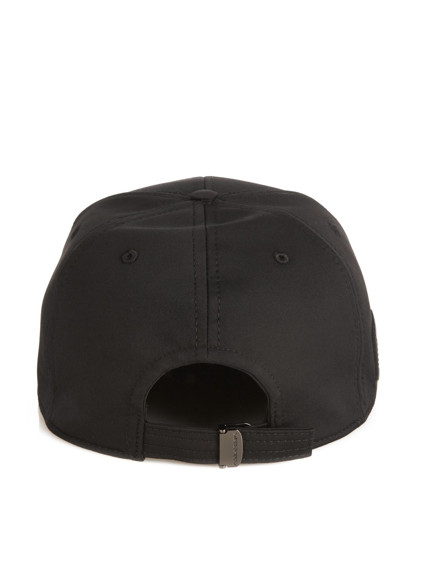 ed5abcc1080c6 Dolce   gabbana Logo-plaque Baseball Hat in Black for Men
