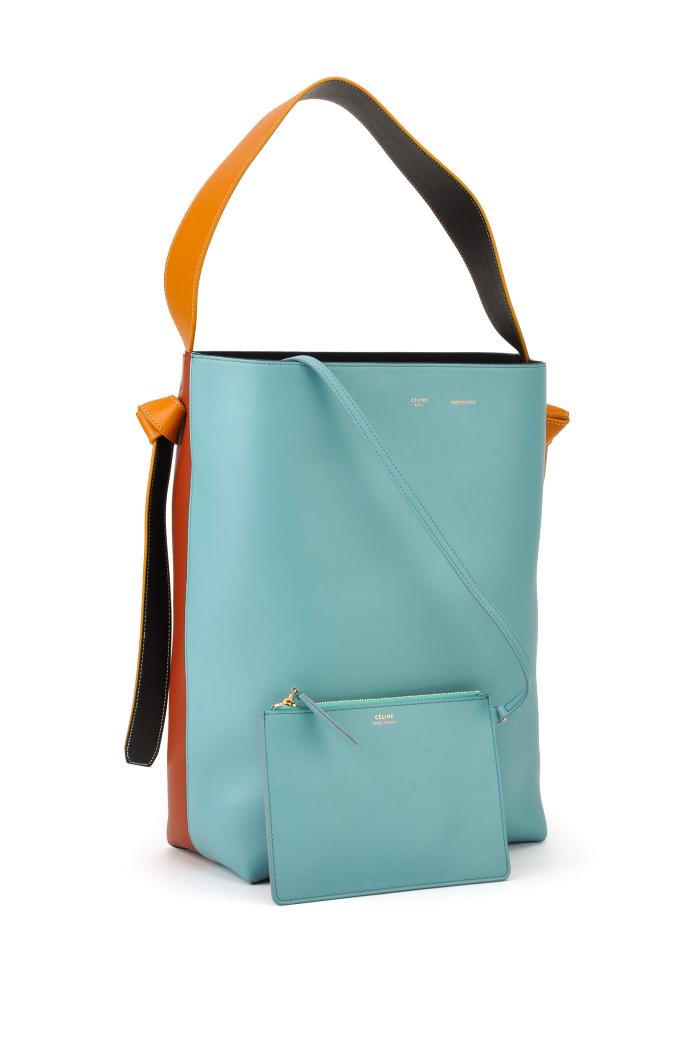 C¨¦line Small Twisted Bag in Blue (ANTRACITE BRICK) | Lyst