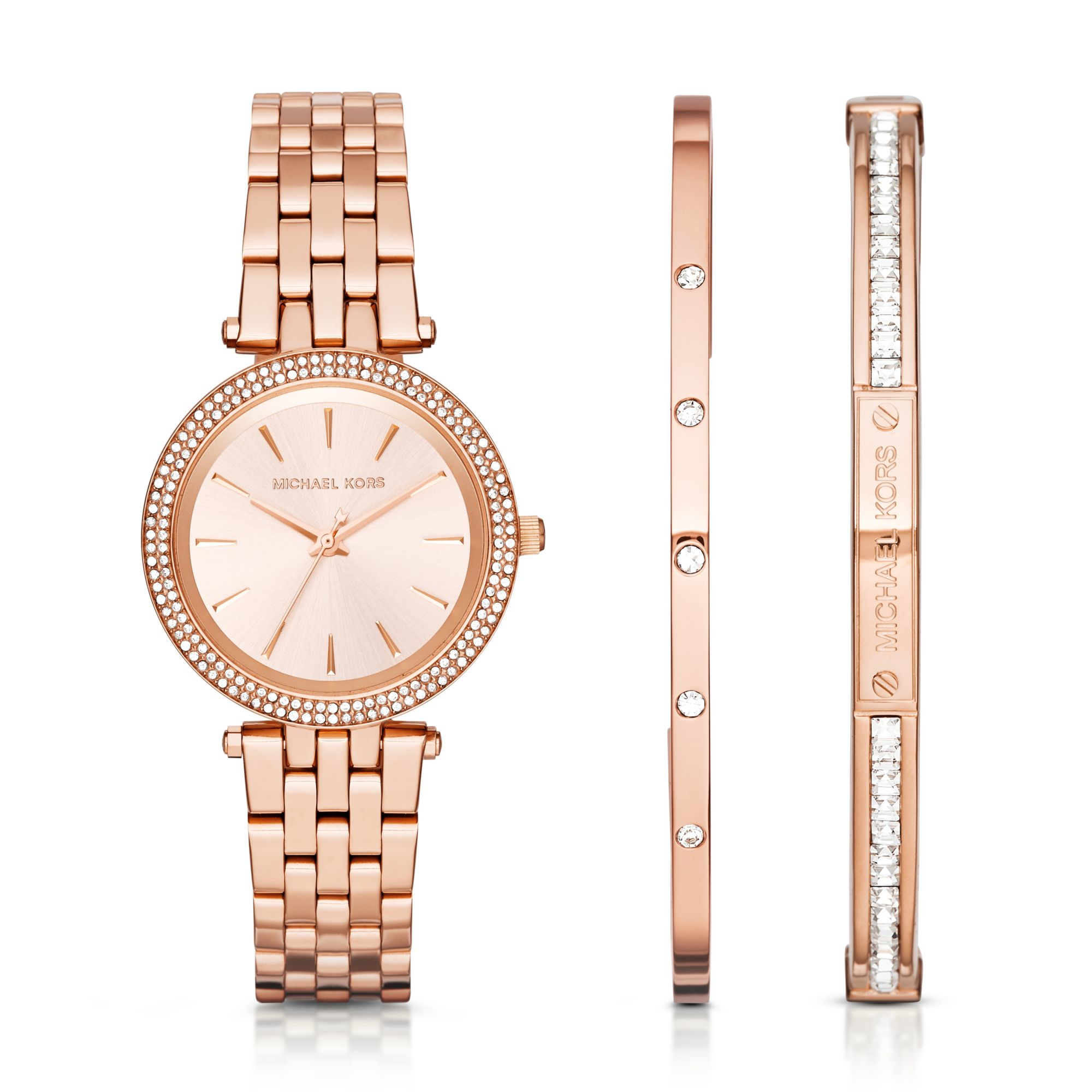 70ec085e1f3c2 Lyst - Michael Kors Darci Rose Gold-tone Gift Set in Pink