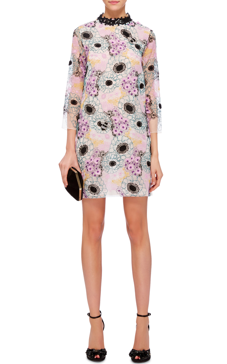 Lyst giamba floral embroidered mini dress