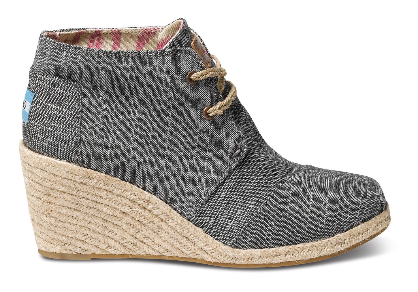 d7cdcfffb769 TOMS Chambray Womens Desert Wedges in Black - Lyst