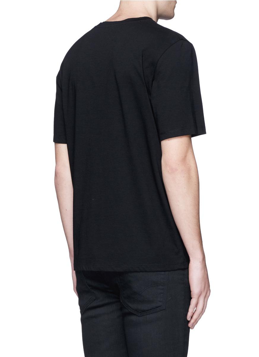 T By Alexander Wang Drape Open Back T-Shirt in Black | Lyst