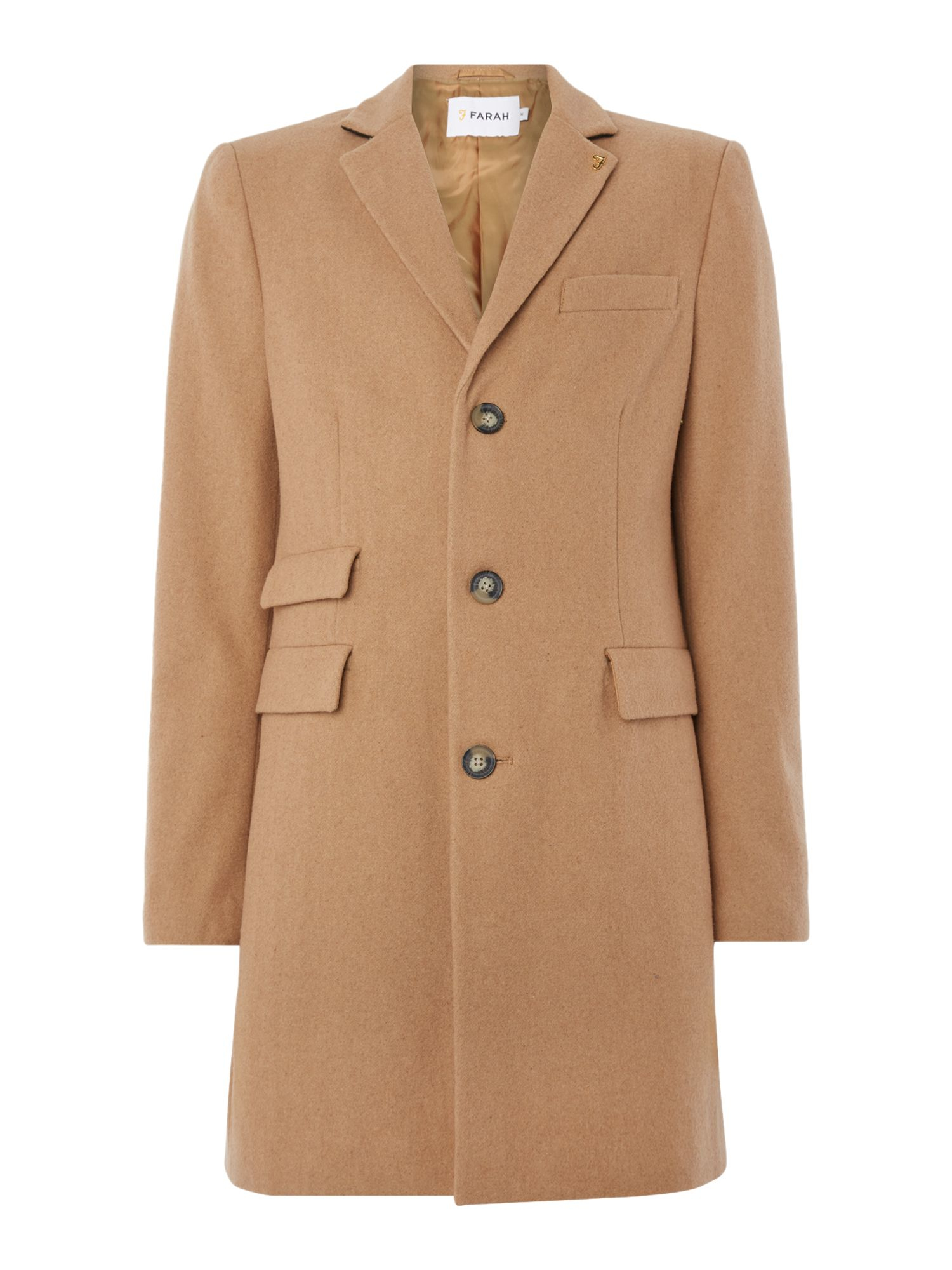 Wool blend overcoat