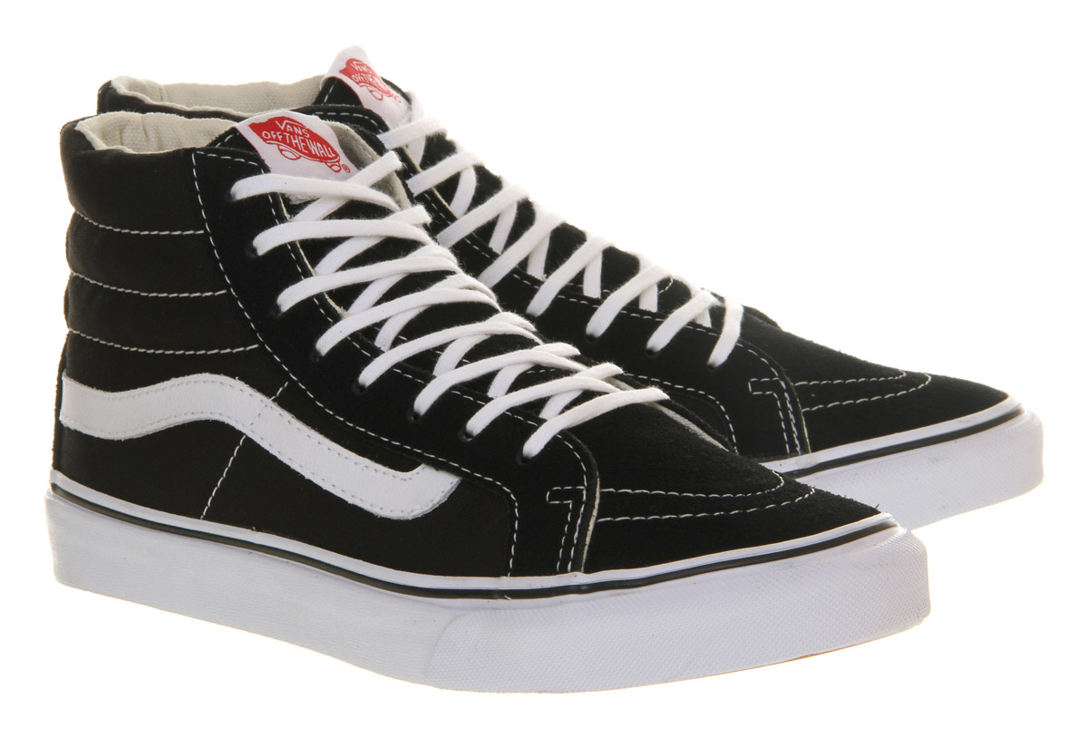 Vans Slim High-Tops in Black