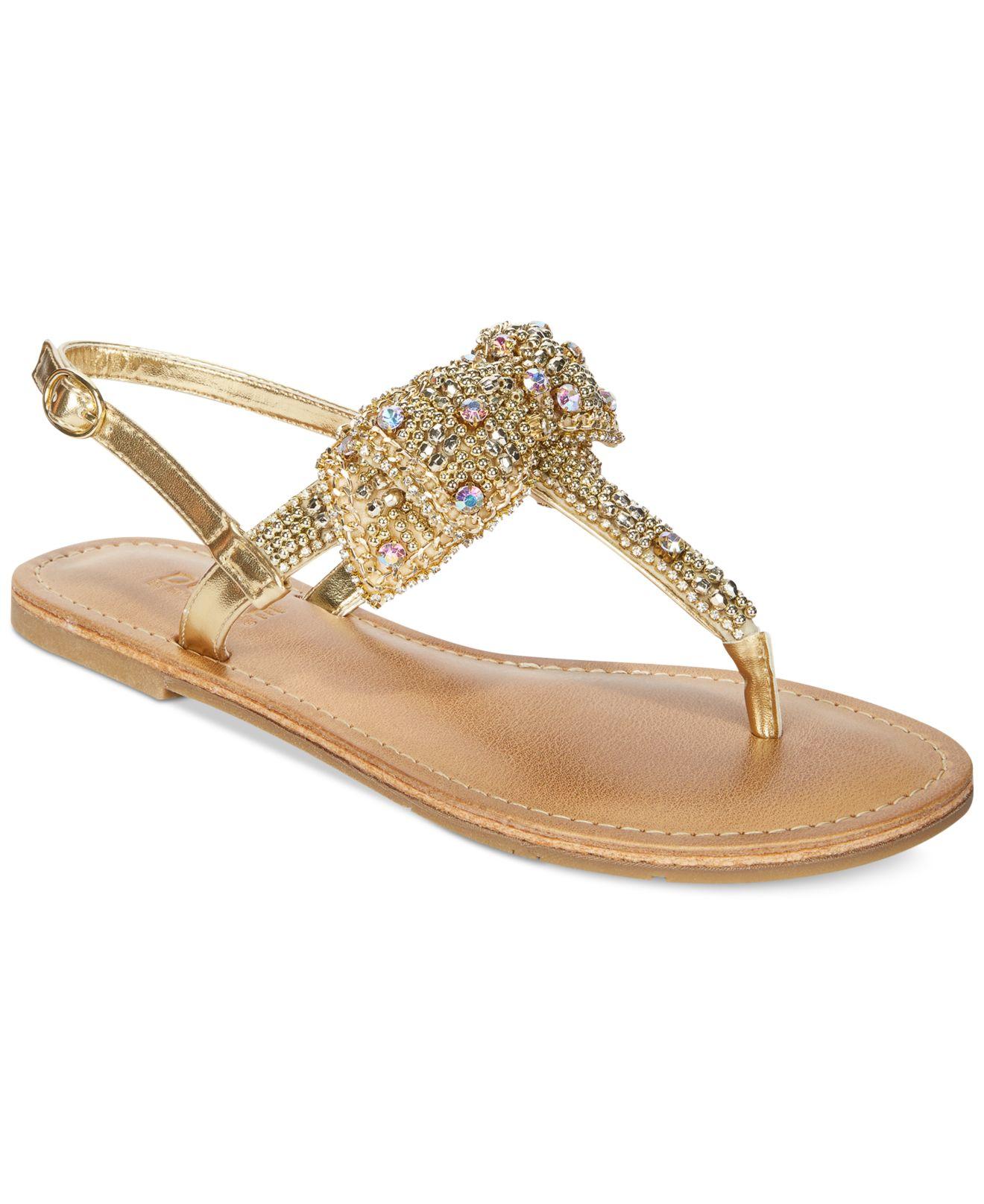 51446596a404 Lyst - Mojo Moxy Dolce By Sienna Rhinestone Bow Flat Thong Sandals ...