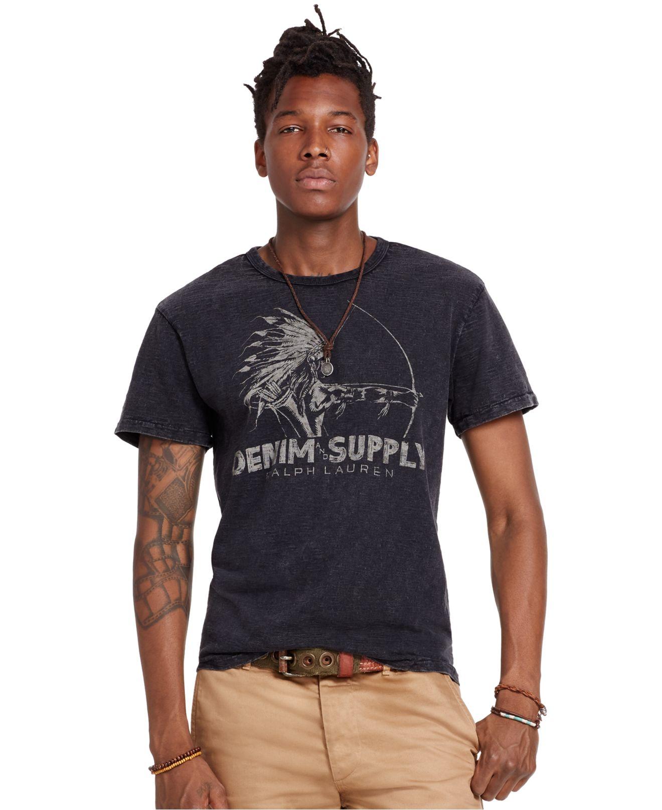 32519eca11e9a6 Lyst - Denim   Supply Ralph Lauren Slub Cotton Jersey Graphic Tee in ...