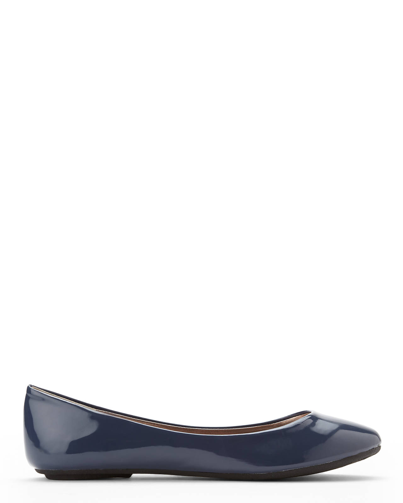 581b20a8933 Lyst - Steve Madden Slate Blue Patent Flats in Gray