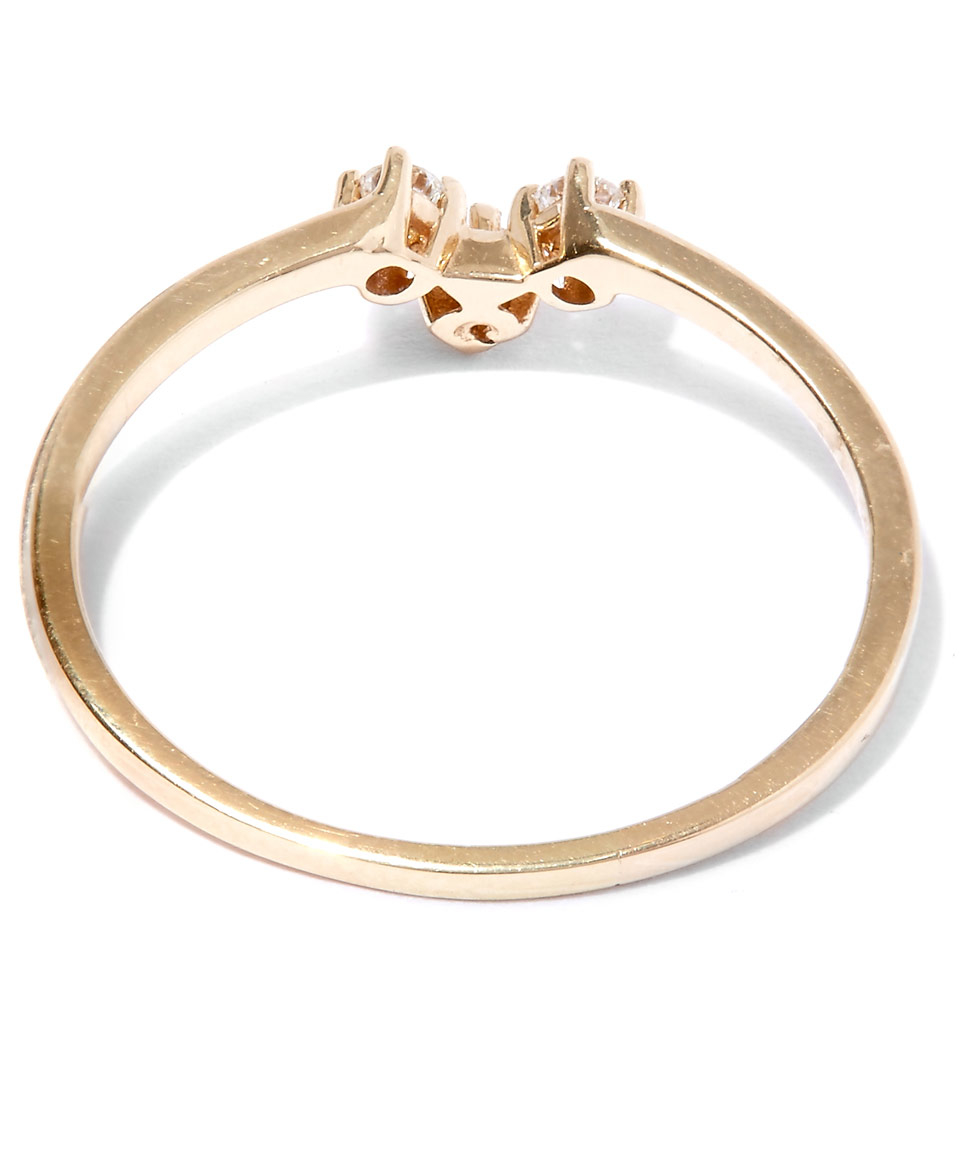 Anna sheffield gold white diamond bea arrow ring in for Jewelry storm arrow ring