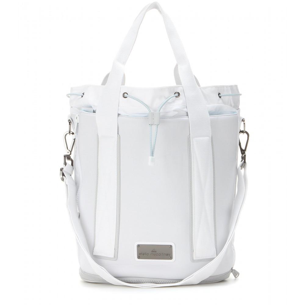 434a8f07b1a Adidas By Stella Mccartney Tennis Drawstring Bag in White - Lyst