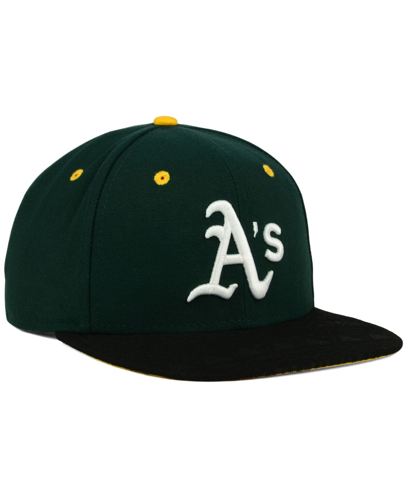 competitive price 43f2c 64593 ... netherlands lyst ktz oakland athletics tone 9fifty snapback cap in  green for men ac34d 4309e
