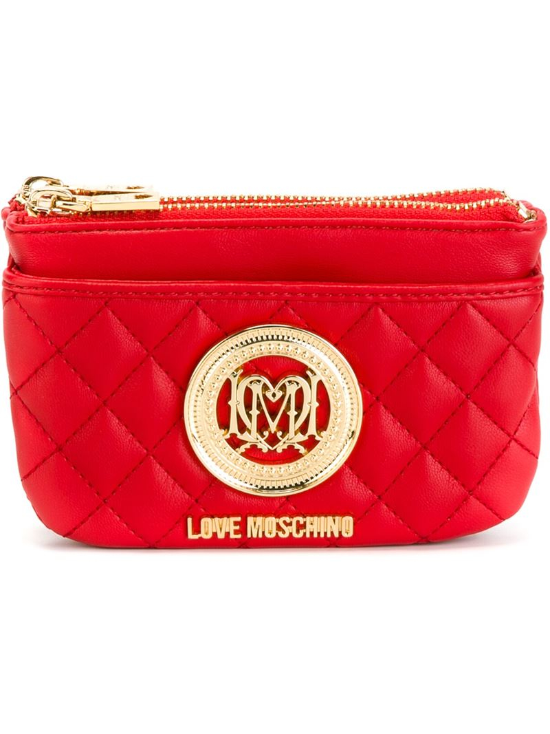 43b7500f2bc Love Moschino Quilted Purse in Red - Lyst
