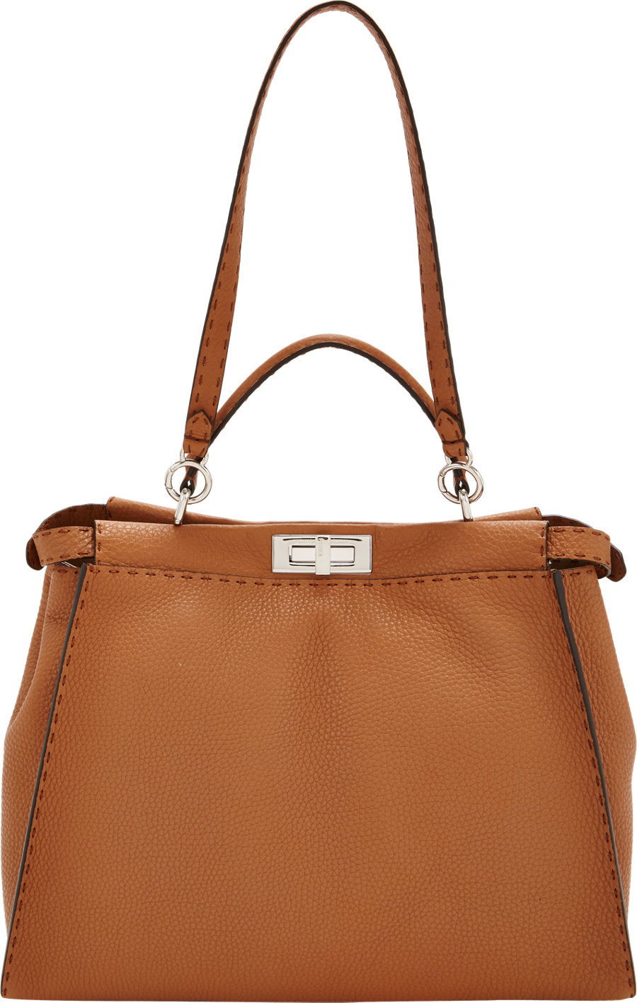 bce5404db1 Fendi Medium Selleria Peekaboo Bag in Brown - Lyst