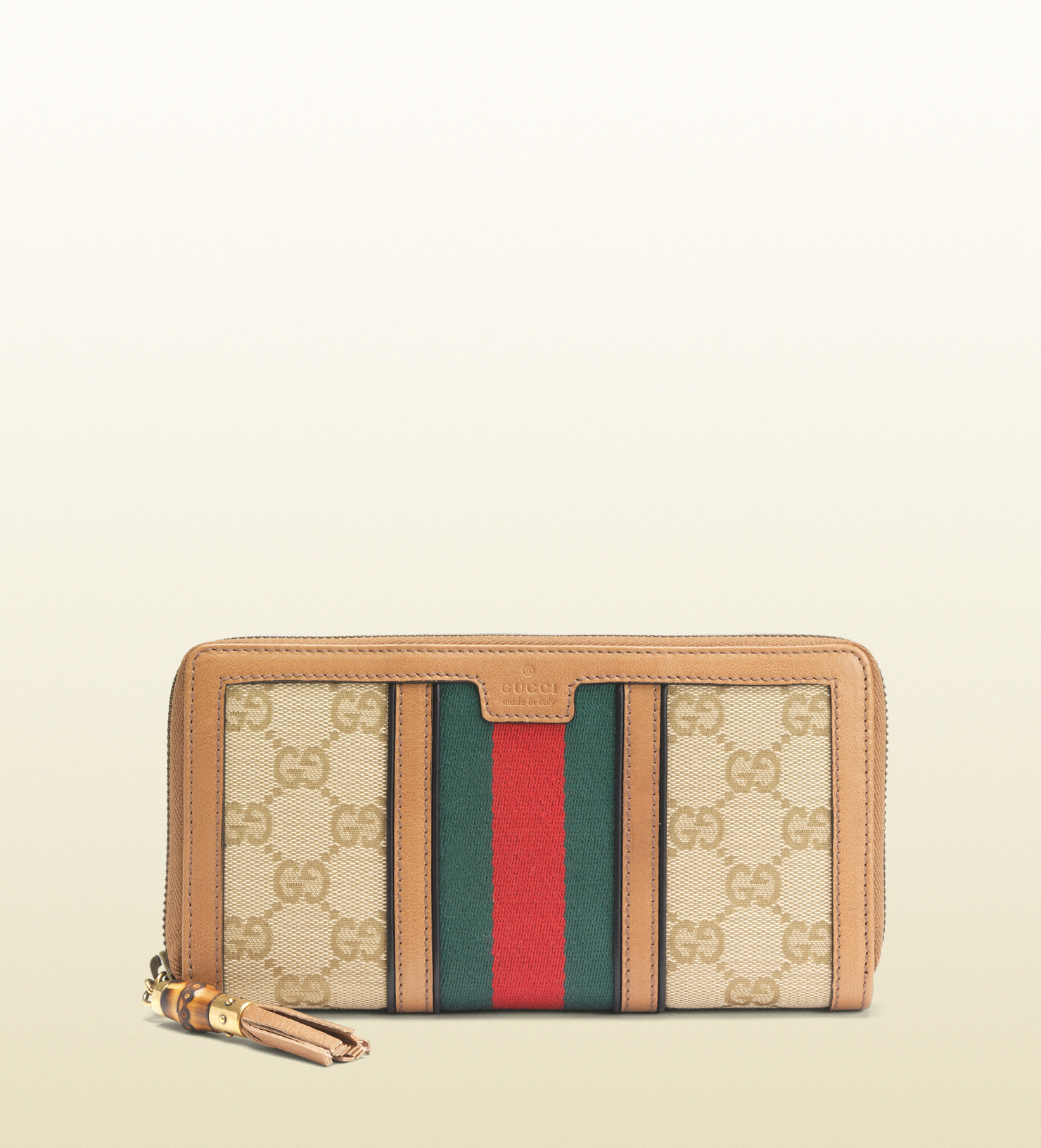 1f700ae470710a Gucci Rania Original Gg Canvas Zip Around Wallet in Natural - Lyst