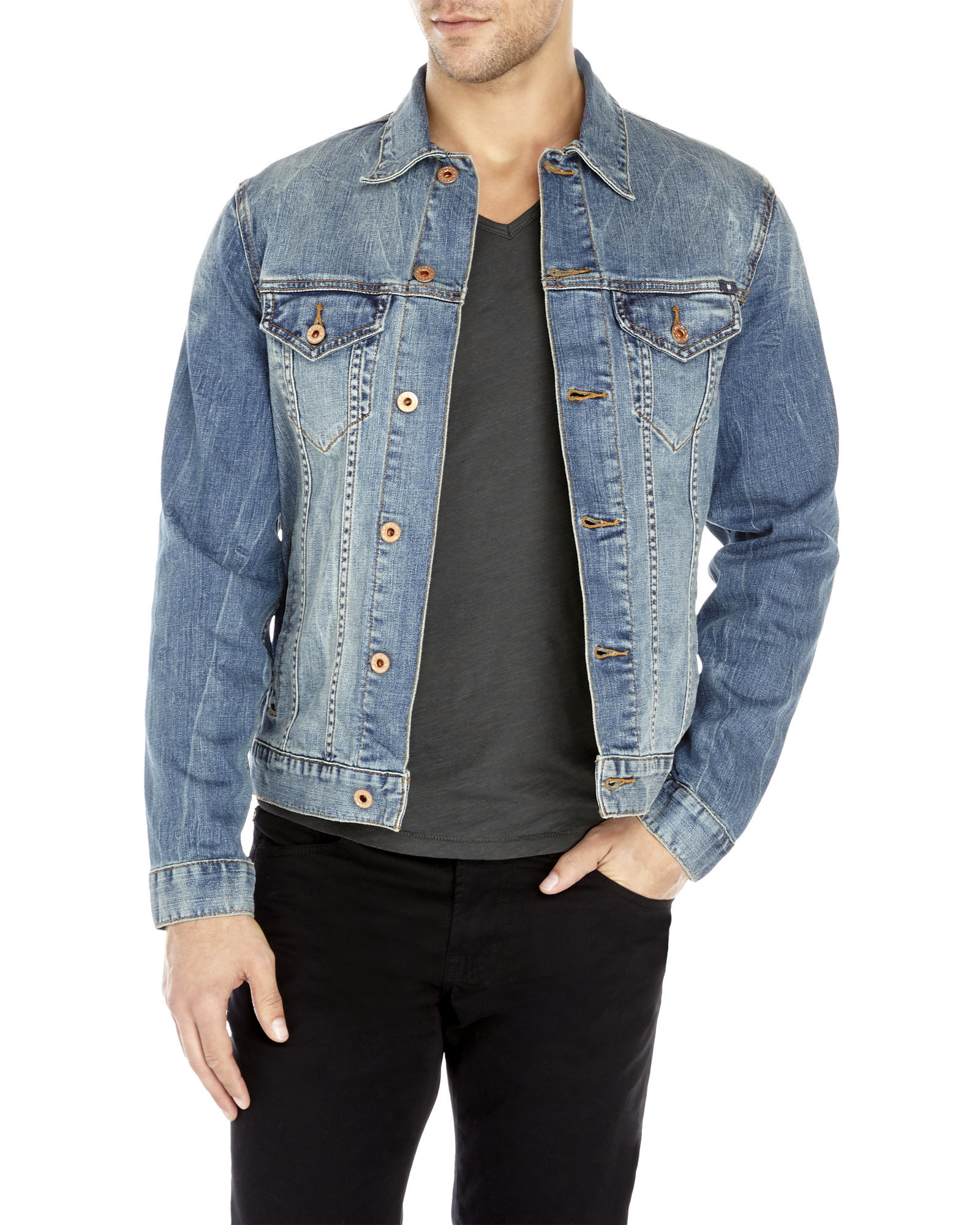 Lucky brand Lakewood Denim Jacket in Blue for Men | Lyst