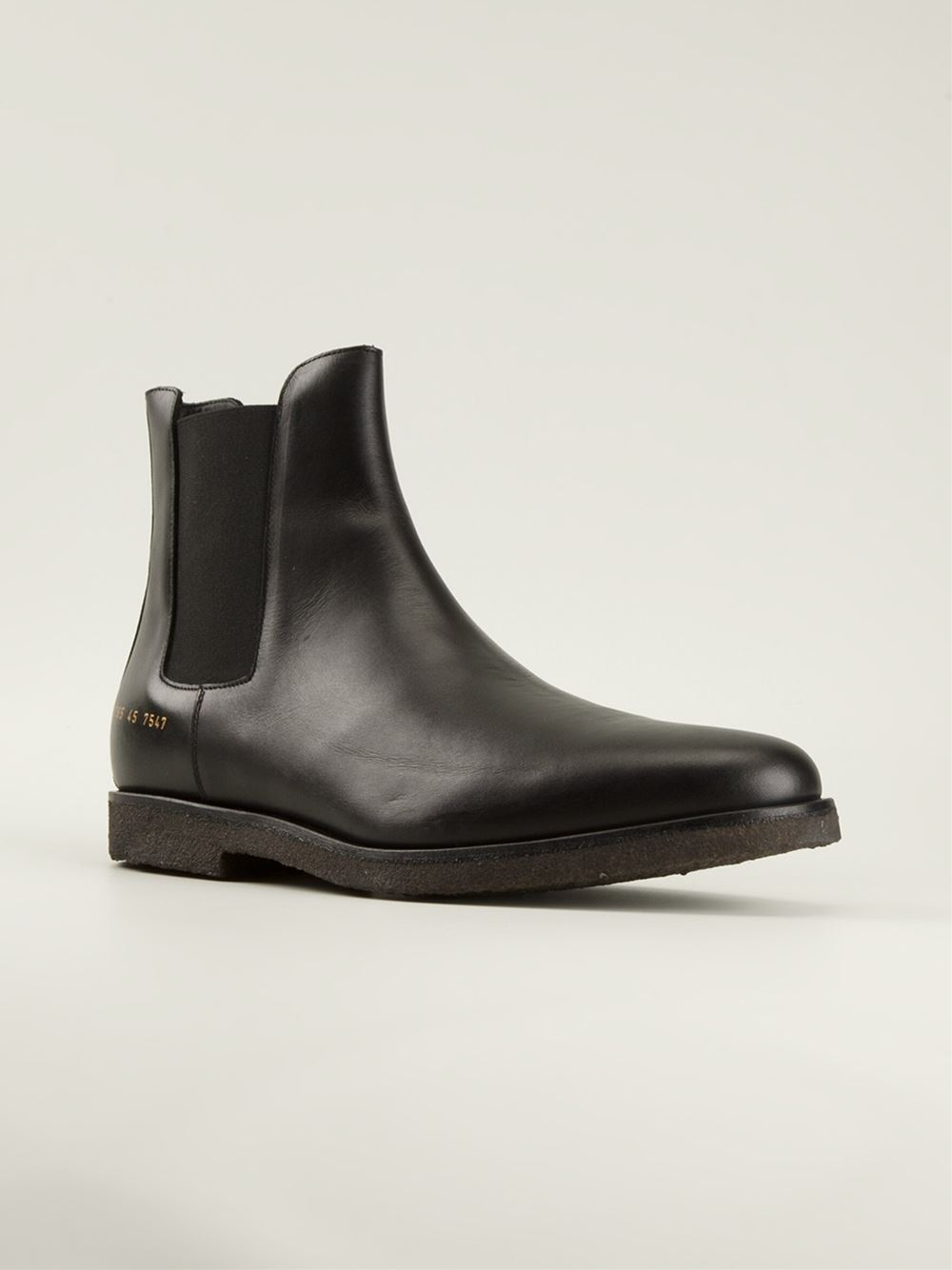 Lyst Common Projects Rec Leather Chelsea Boots In Black