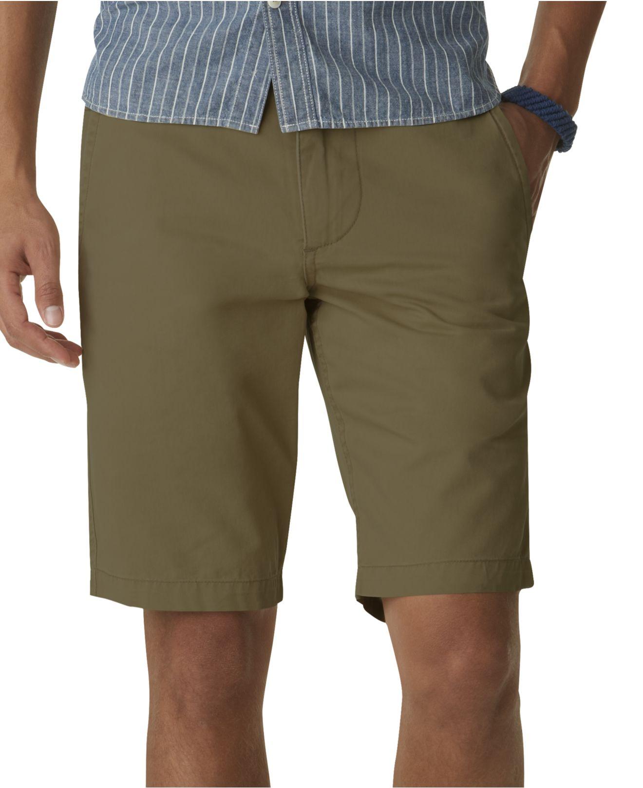 Dockers Alpha Flat Front Khaki Shorts in Green for Men | Lyst