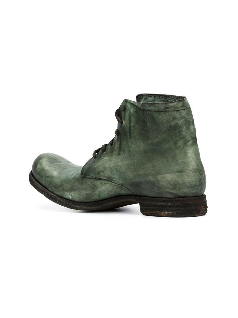 a diciannoveventitre ankle boots in green for lyst