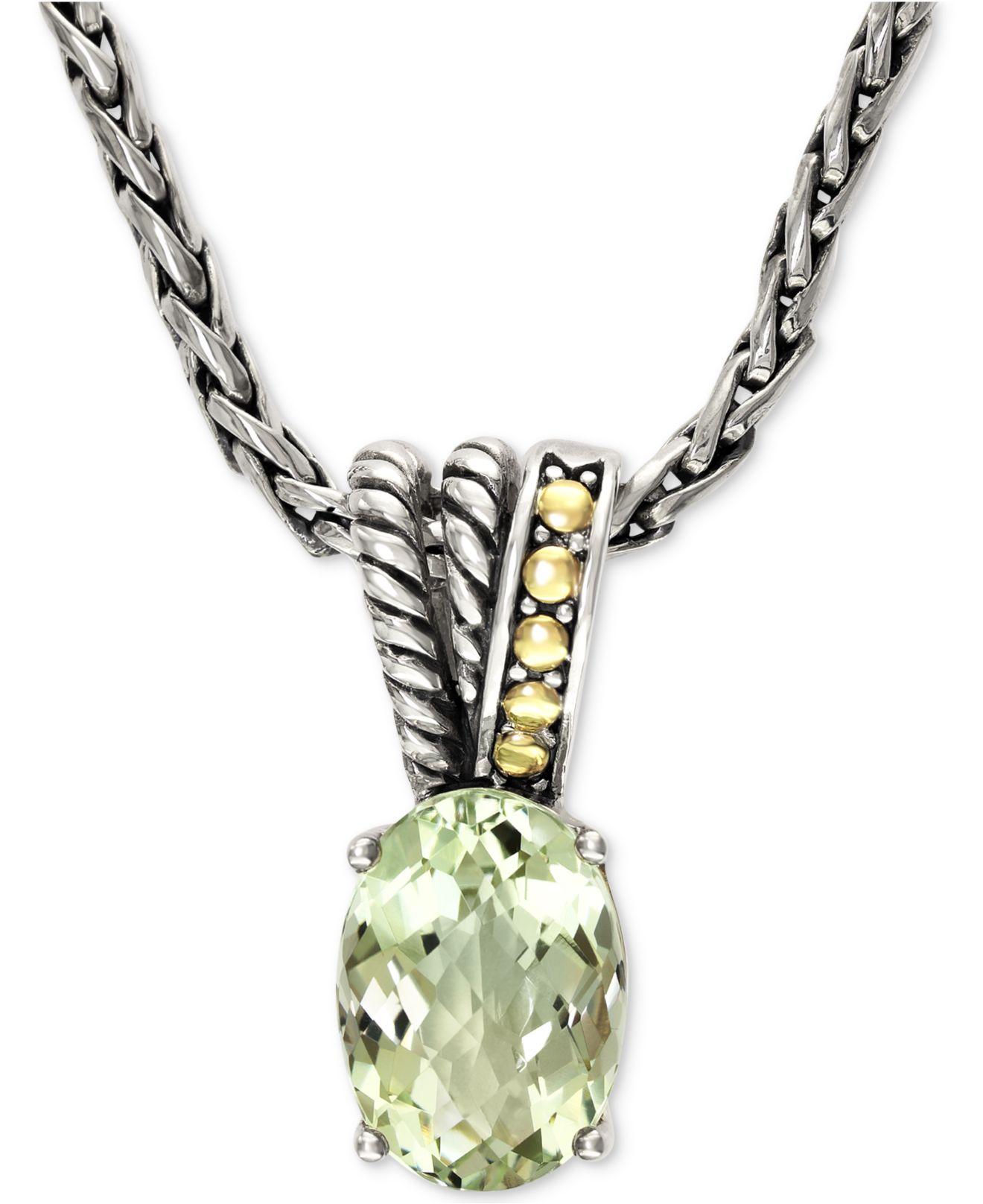 Lyst Effy Collection Effy Green Amethyst Pendant