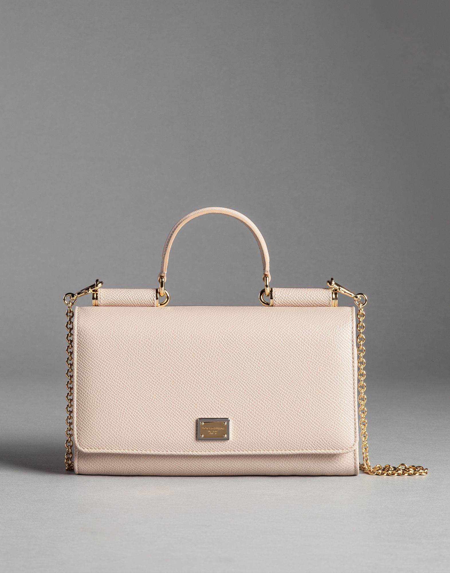 Dolce   Gabbana Dauphine Print Calfskin Mini Von Bag With Lipstick ... fda837ebab8c0