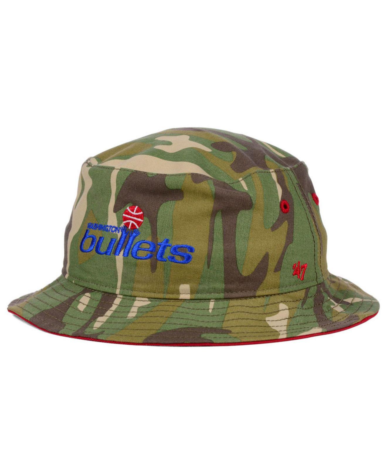 e755fccf ... sweden lyst 47 brand washington bullets nba hwc woodrow bucket hat in  green for men 84ff5