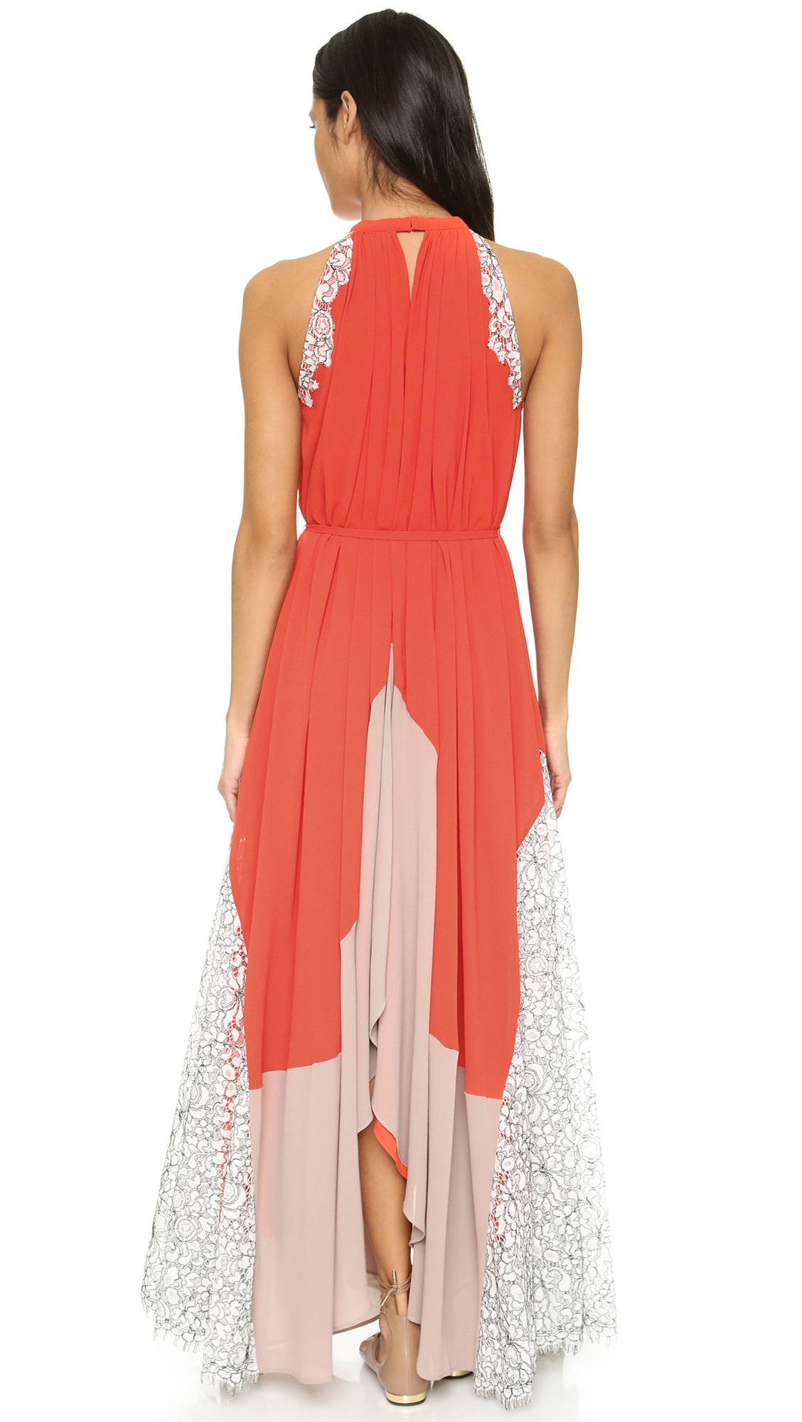 c8aa8c0747a Saloni Iris Lace Dress in Pink - Lyst