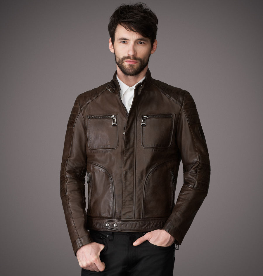 belstaff weybridge jacket in brown for men black brown. Black Bedroom Furniture Sets. Home Design Ideas