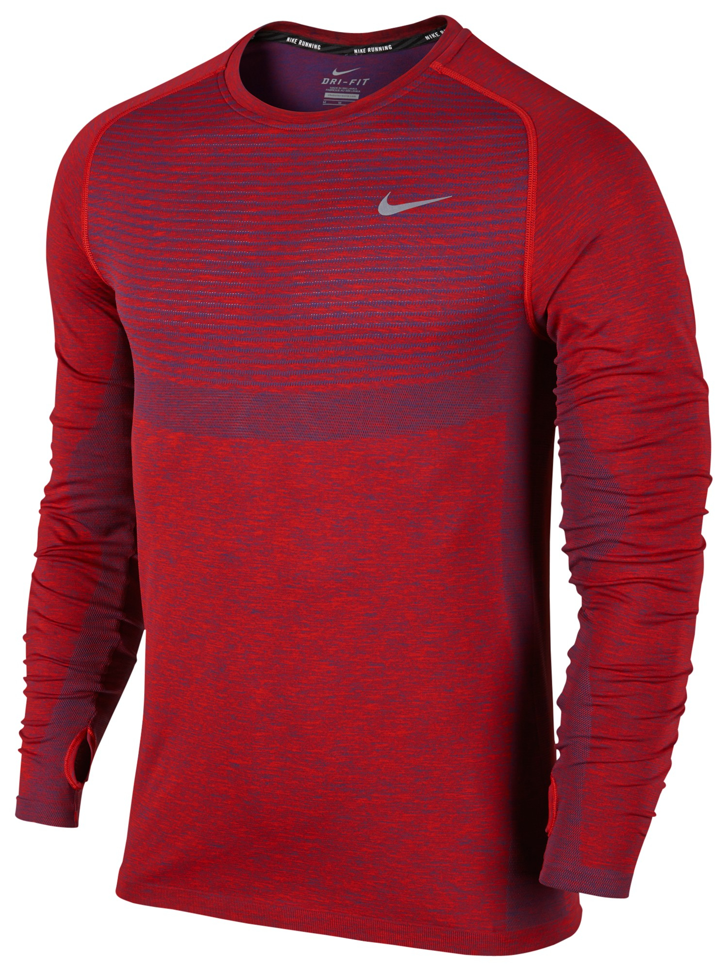 Lyst - Nike Dri-fit Knit Men's Running Top in Red for Men