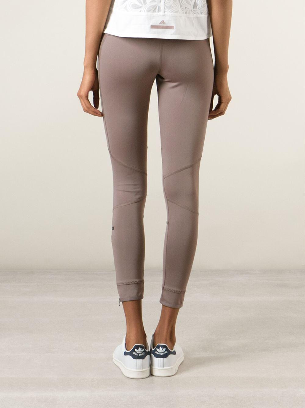 Adidas by stella mccartney 'run Winter' Leggings in Beige (nude ...