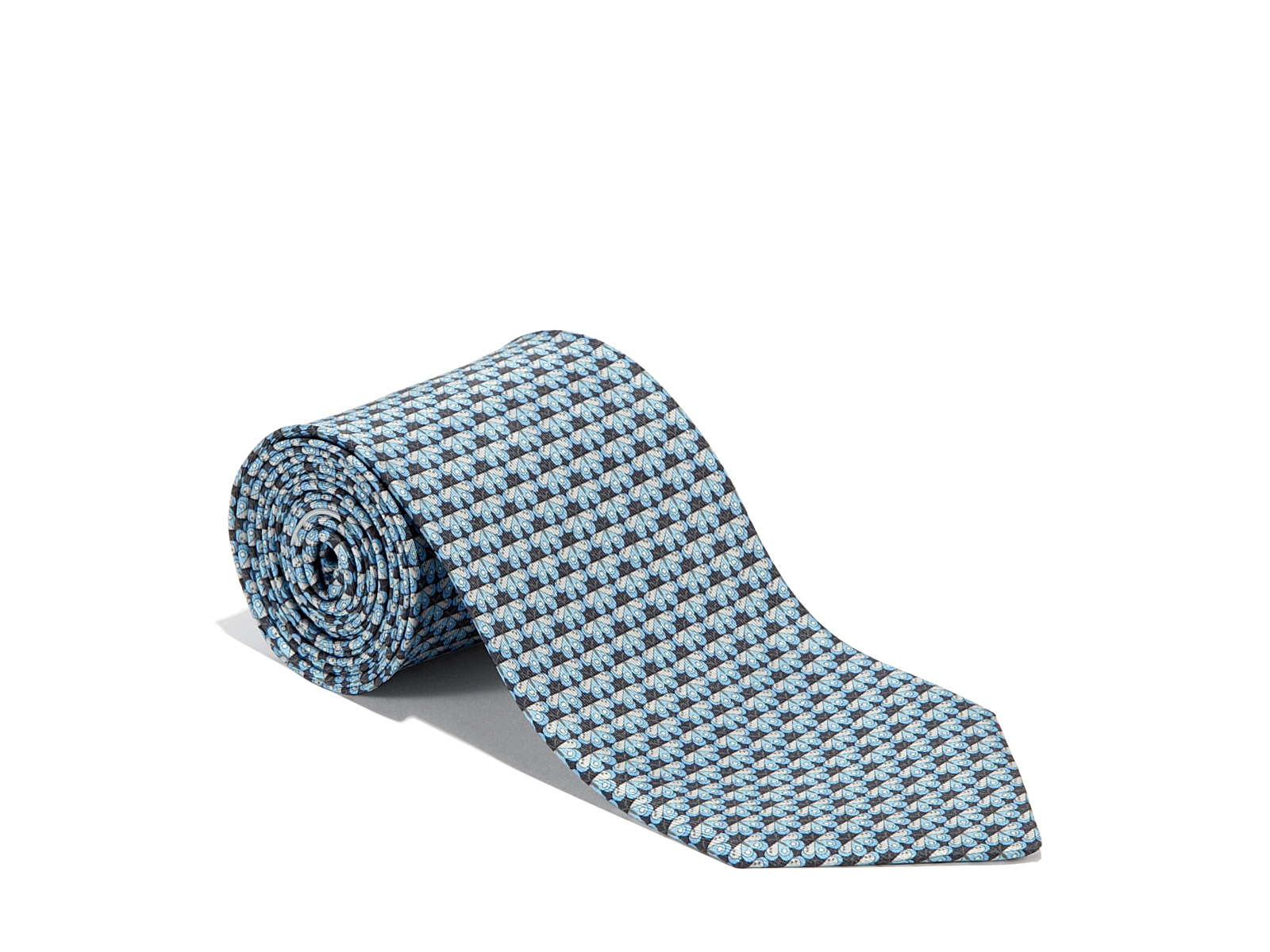 e6a07c9c9de1 Lyst - Ferragamo Geometric Butterfly Printed Tie in Gray for Men