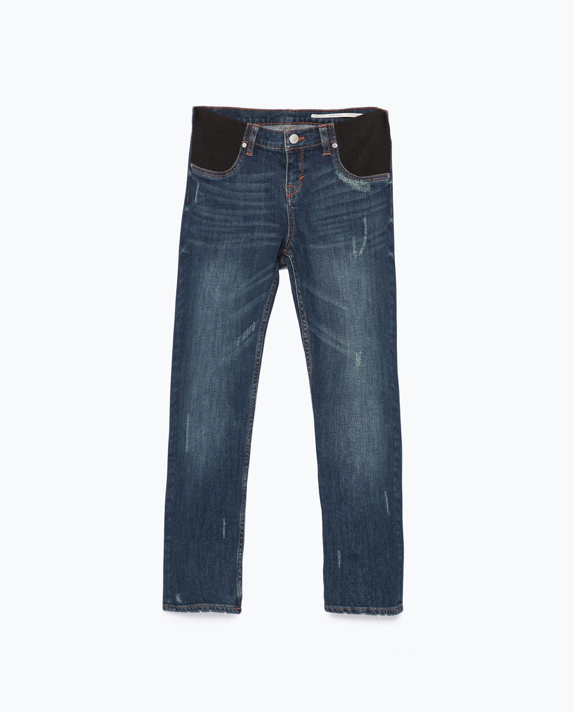 Zara Cigarette Maternity Jeans in Blue | Lyst