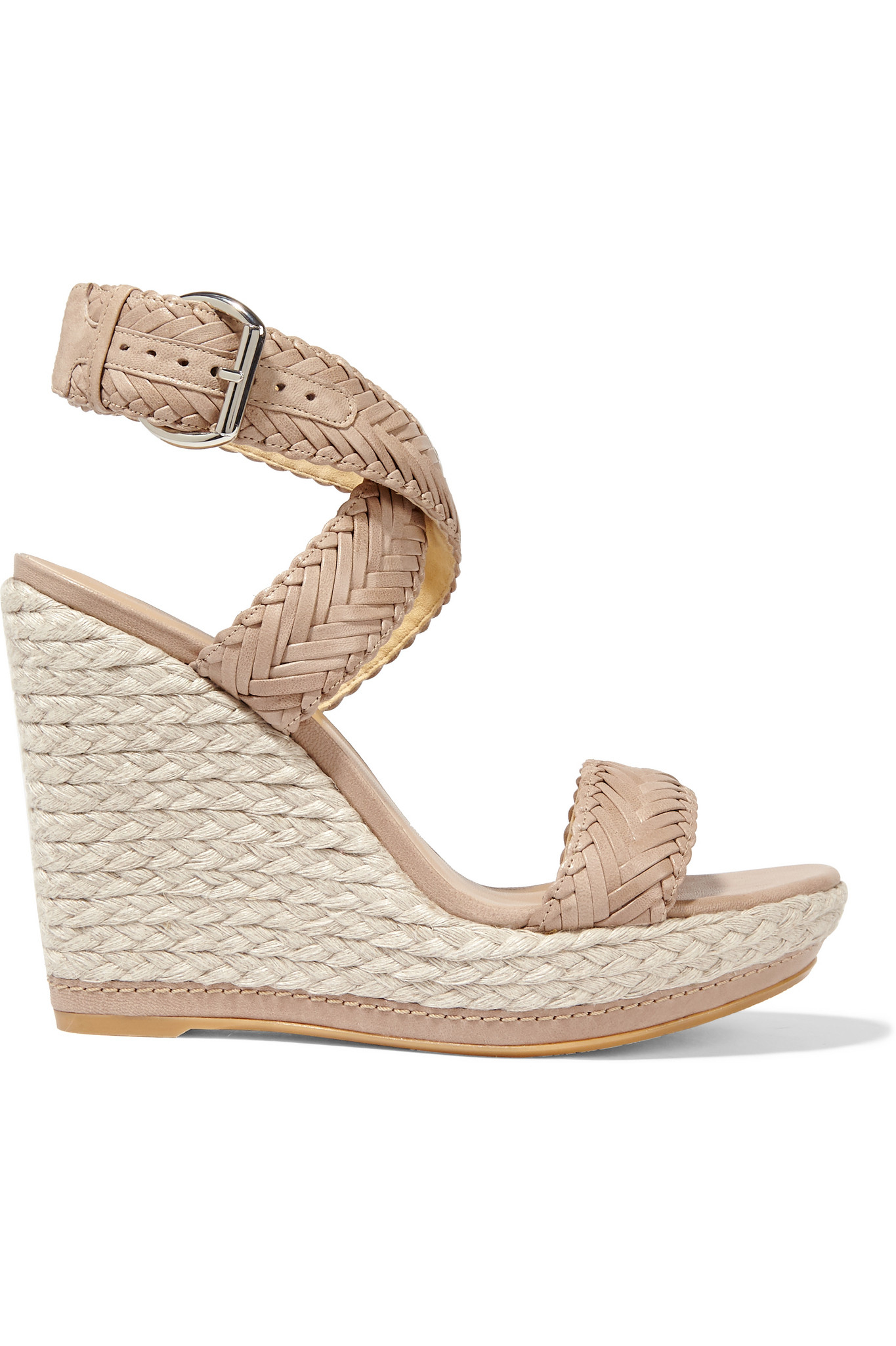 Lyst Stuart Weitzman Elixir Braided Leather Espadrille