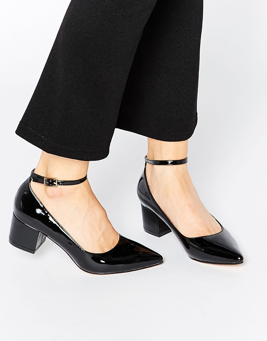 Truffle collection Molly Ankle Strap Mid Heeled Shoes | Lyst