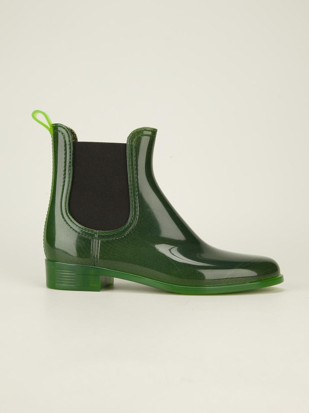 Jeffrey Campbell Chelsea Rain Boots In Green Lyst
