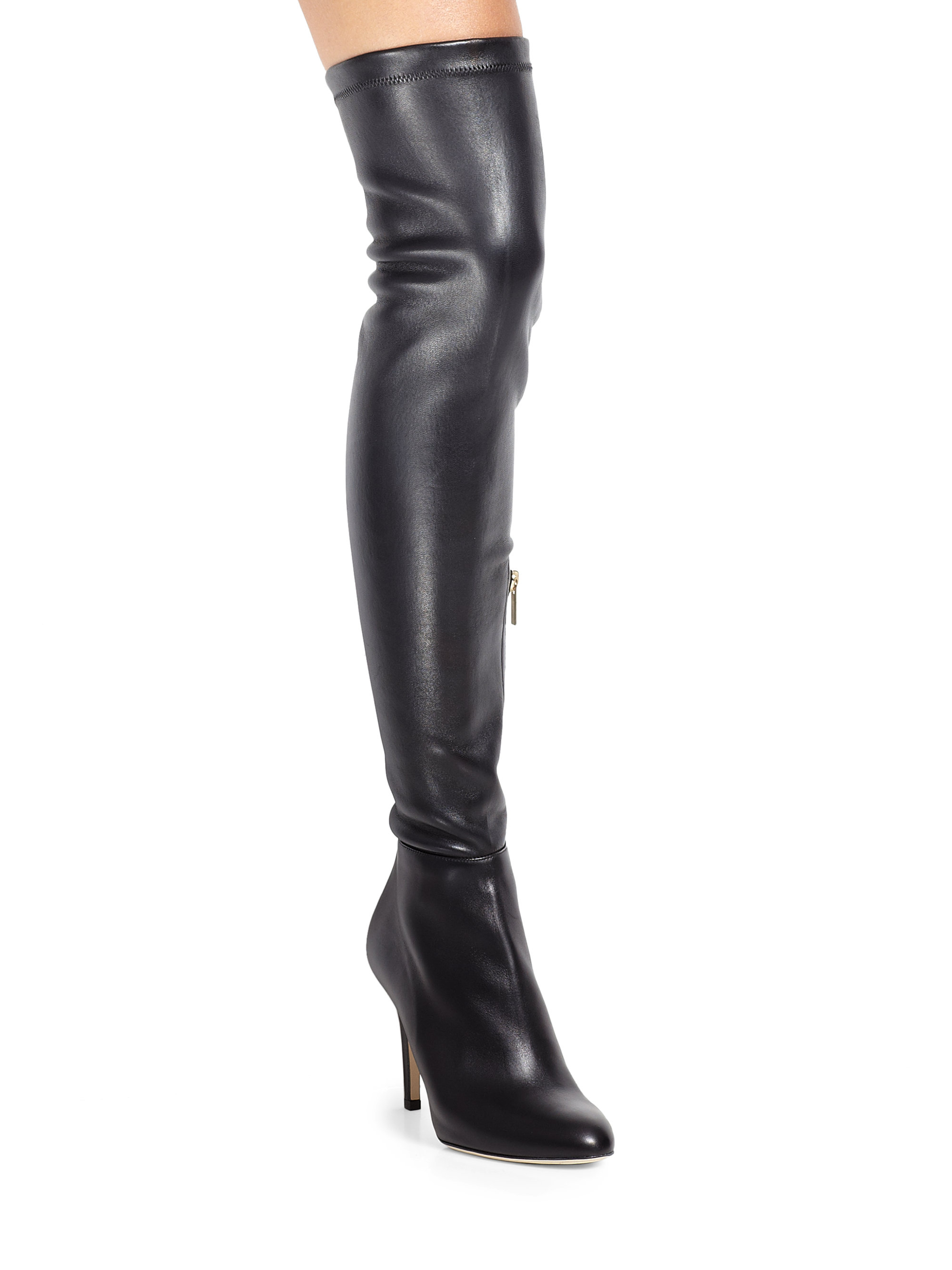 Lyst - Jimmy choo Toni Leather Over-The-Knee Boots in Black
