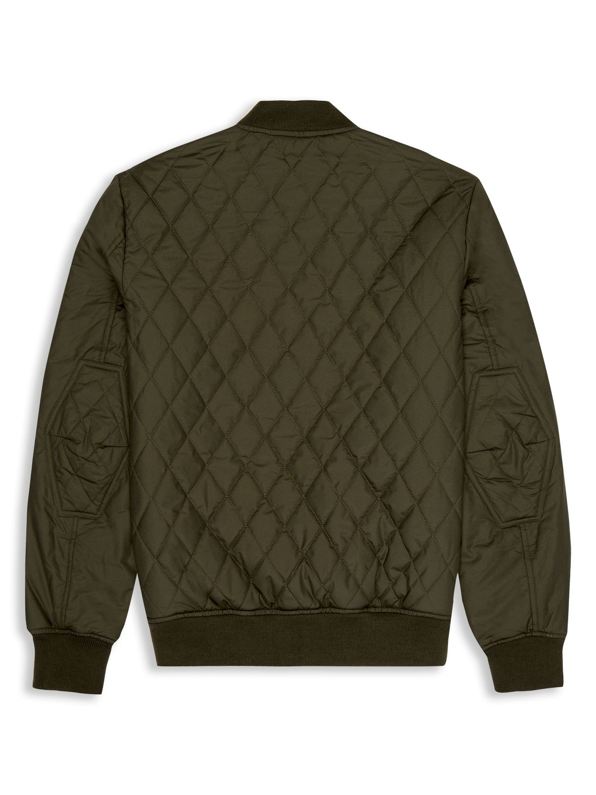 Ben sherman Quilted Bomber Jacket in Green for Men | Lyst