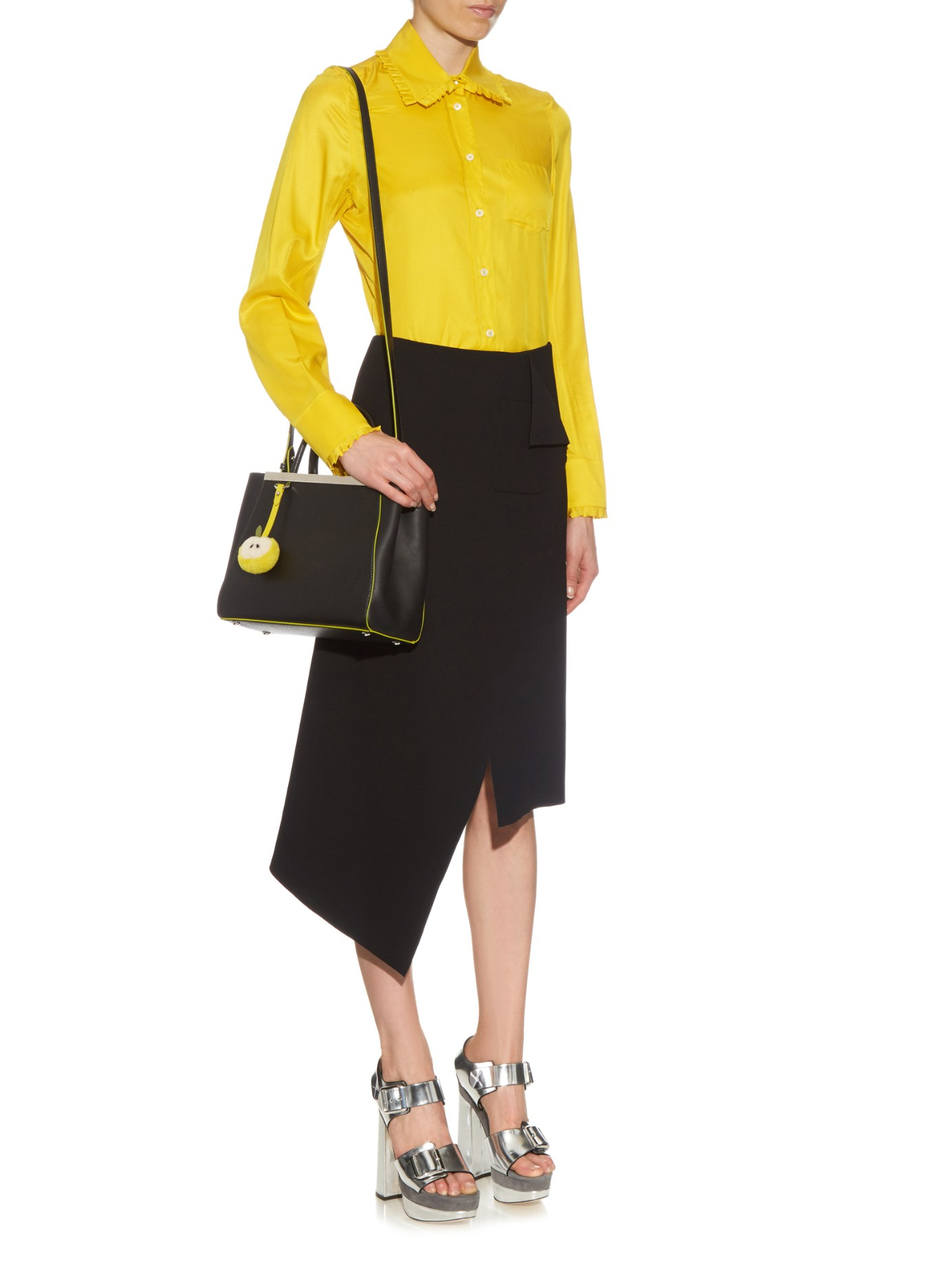 Petite In Lyst 2jours Leather Fendi Black Tote ZrZHqTzKy
