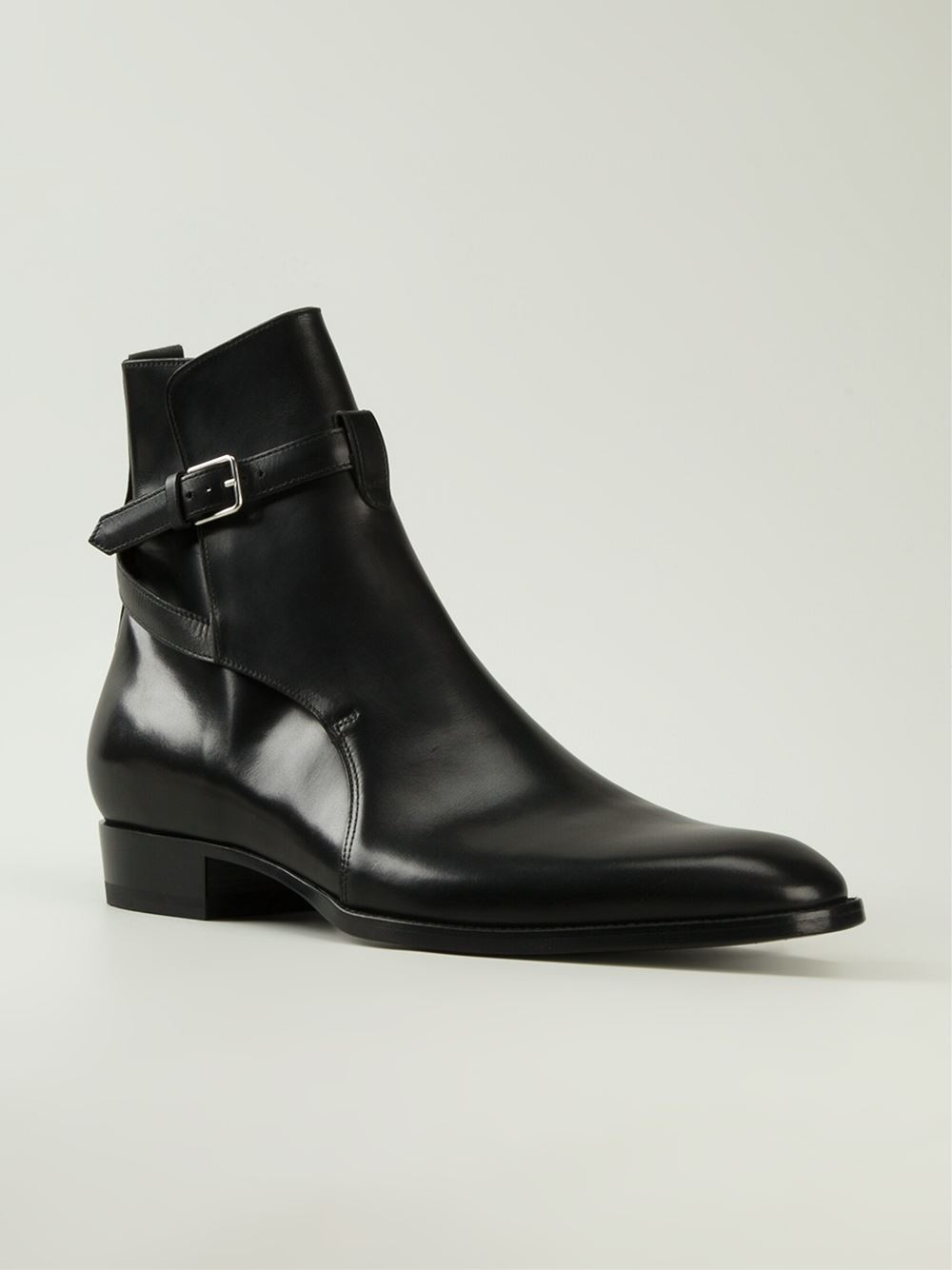 Saint laurent 'hedi' Ankle Boots in Black for Men