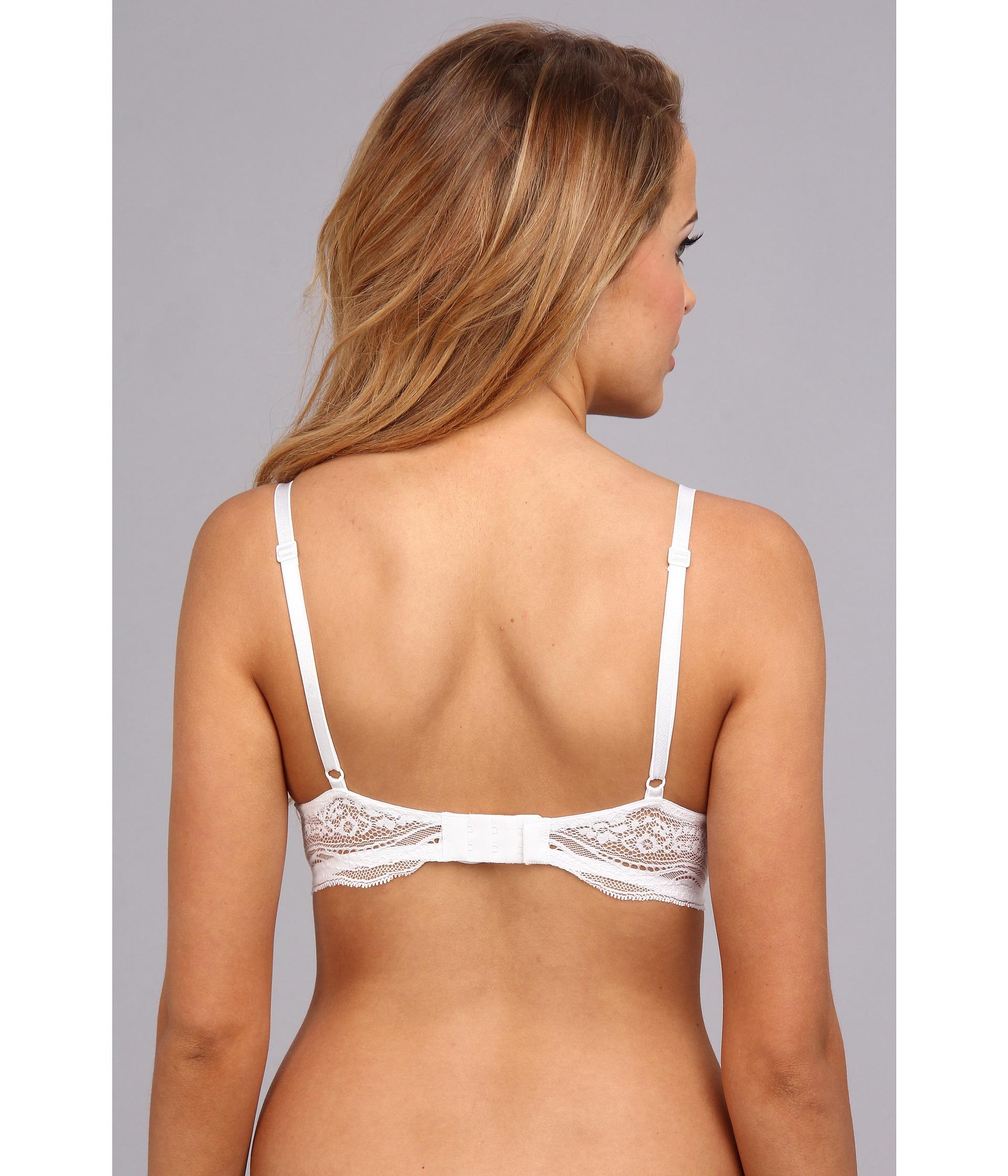 80ed813d87 Lyst - Calvin Klein Infinite Lace Customized Lift Bra F3895 in White