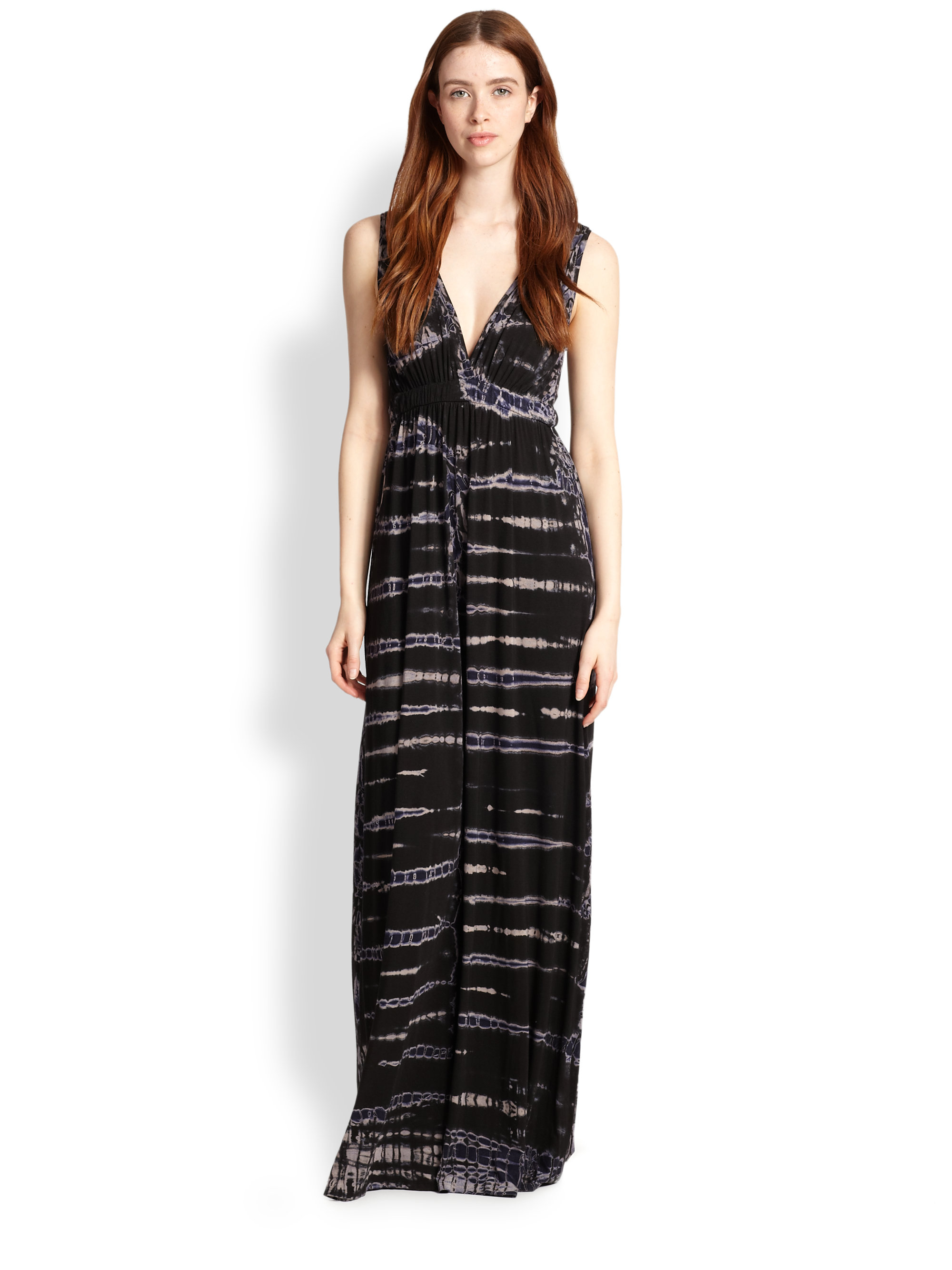 Gypsy 05 Bamboo Tiedye Maxi Dress in Black | Lyst