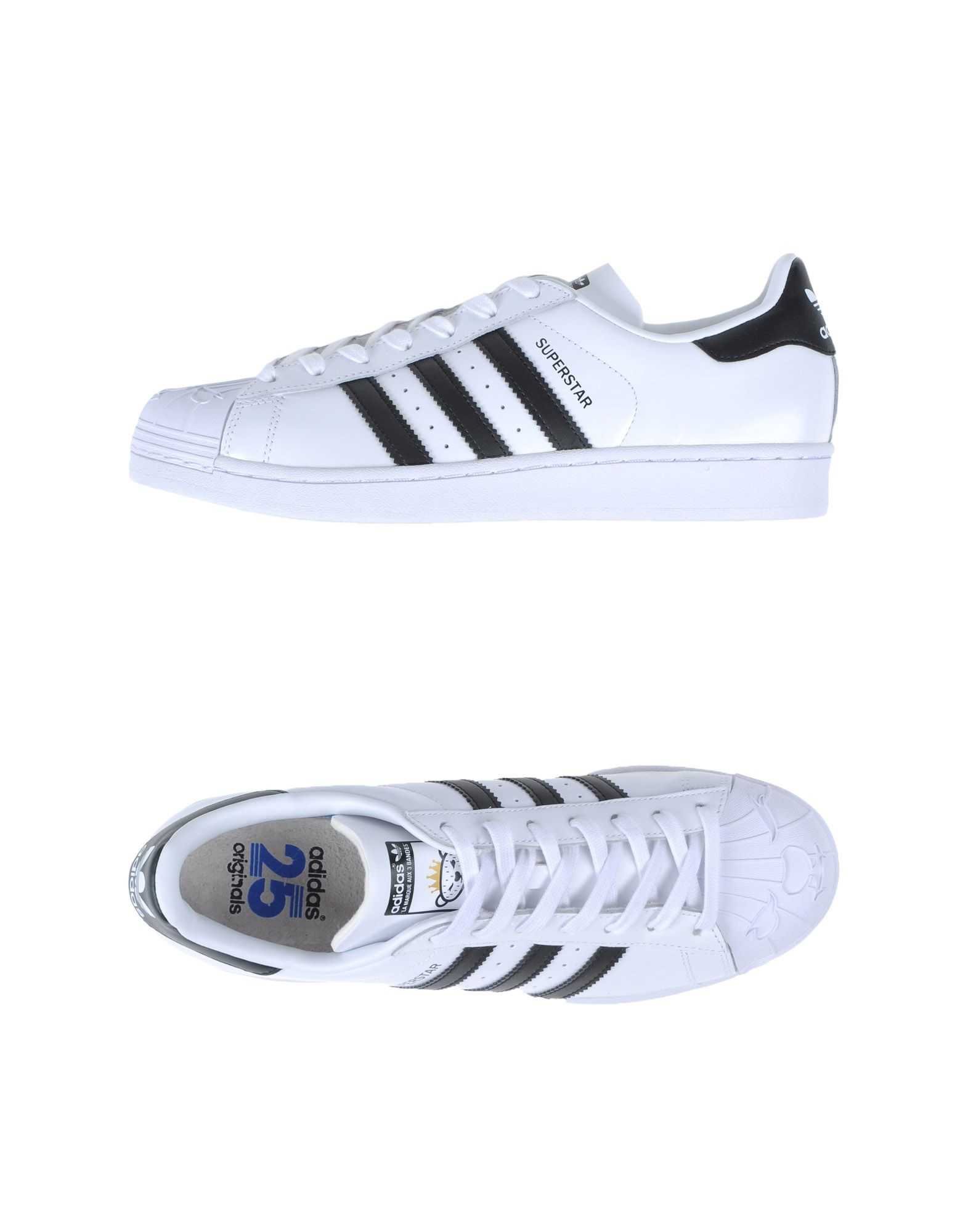 adidas originals low tops trainers in white for lyst